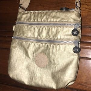 Gold Kipling Crossbody Bag